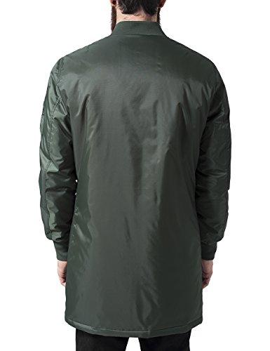 Urban Classics Long Bomber Jacket, Blouson Homme Vert - Grün (olive 176)