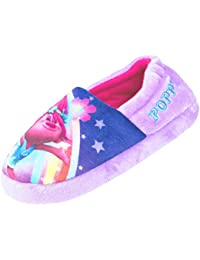 Trolls Chicas Poppy Purple Zapatilla Elasticated Slip On