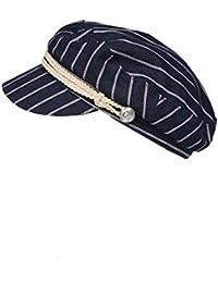 85e904b679c8d6 Zwillingsherz Schirmmütze für Damen - Elegante Kappe Hut Barett für Frauen  Mädchen Uni - Hochwertige Baskenmütze…