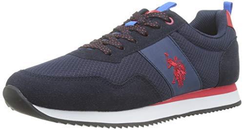 U.S. Polo Assn. Talbot3, Sneaker Uomo, Multicolore (Blu Scuro/Rosso 012), 42 EU