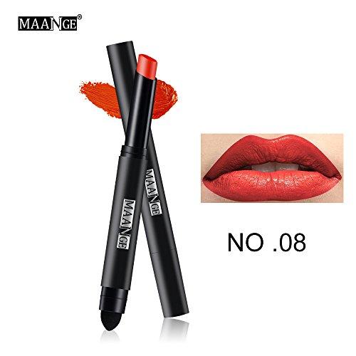 Lipgloss,Rabatt,PorLous 2019 Beliebt Langlebiger Lippenstift Wasserdichter Matt Lipgloss Lip Liner Cosmetics Feuchtigkeitsspendend 7