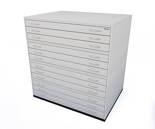 Traditionelle A012Schublade Plan Brust grau Papier Schrank mit zwölf Tiefe Schubladen halten Papier der A0 - Brust Plan