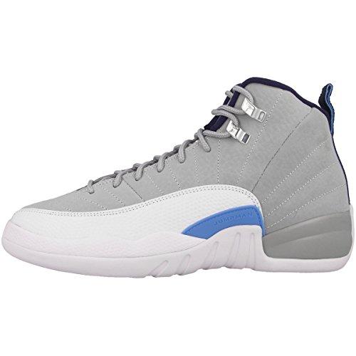 Nike Air Jordan Retro 12 153265-007 Sportschuhe-Basketball, Gris (Wlf Gry / Unvrsty Bl-White-Mid N), 37 1/2 EU