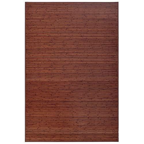 LOLAhome Alfombra de salón o Comedor Industrial marrón de bambú de 200 x 300 cm Factory, 200x300