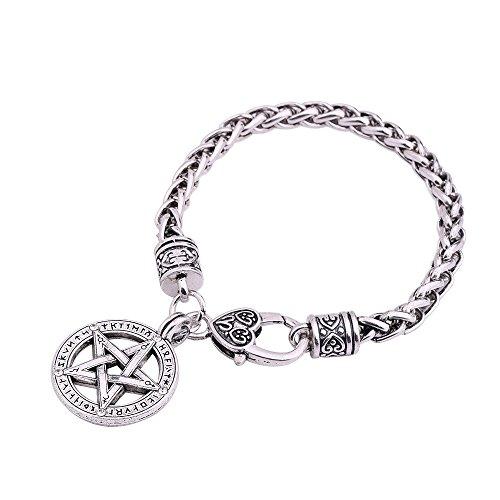 Wicca Nordic Viking Talisman amuleto runas pentagrama colgante pulsera joyas regalo