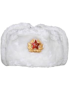 MFH Inverno russo Cappellino bianco con Badge Taglia XL