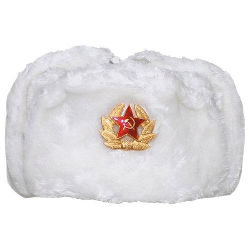 MFH Inverno russo Cappellino bianco con Badge