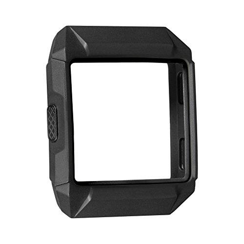 Schutzhülle für Fitbit Ionic,SnowCinda TPU Weich Austausch Schutz Hülle Sport Fitness Ersatz Protection Zubehör für Fitbit Ionic Smart Uhren (Schwarz 1)