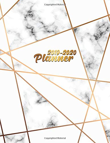 2019-2020 Planner: Pretty Gold Lines Marble Daily, Weekly and Monthly Planner 2019-2020. Cute Golden 2 Year Organizer, Yearly Schedule and Agenda with ... and More. (Marble Personal Planners, Band 50)