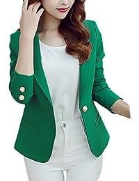 4f1fcaaf3281 Laisla Fashion Blazer Donna Elegante Business Manica Lunga Solido Slim Fit Taglie  Forti Moda Tailleur Donna
