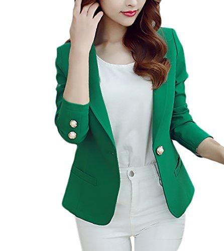 Blazer Damen Elegant Business Langarm Uni-Farben Slim Fit Mode Große Größen Frauen Blazer