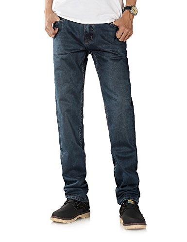 Demon&Hunter 802 Series Hombre Straight Corte Recto Pantalones Vaqueros DH8002(34)