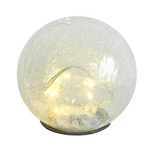 Tolle Kugel mit LED Lichterkette Leuchtkugel in crash Optik Ø 14 Lampe Leuchte