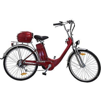 """Bici Elettrica Xinand 24"""" Rossa"""