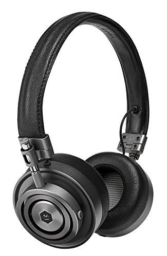 Master & Dynamic MH30 On-Ear Kopfhörer (Echtleder-Kopfband, Mikrofon u. Fernbedienung, faltbar) Gunmetal