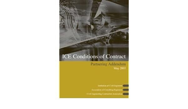 ICE Conditions of Contract Partnering Addendum: Amazon co uk