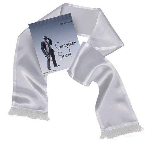Lange Weiß Gangster Schal Al Capone Mobster (Capone Amazon Al Kostüm)
