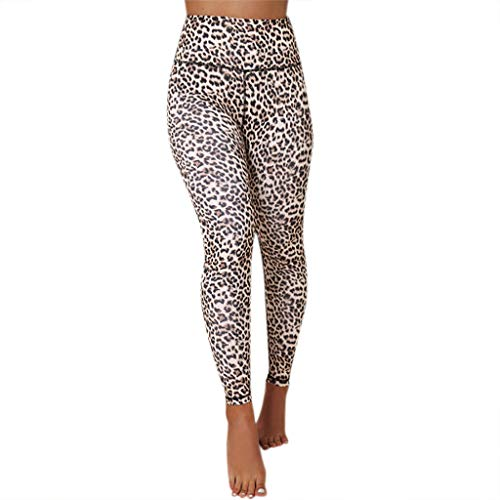 ODRD Damen Yoga Hosen Pants Frauen Leopard Hose Mit Hoher Taille Laufhose Sweathose Jogging Trainingshose Fitnesshose Sweatpants Freizeithose JoggerOutdoor - Leopard Kostüm Strumpfhosen
