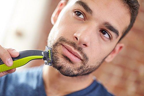 Philips OneBlade QP2530/30 - Recortador de Barba con 4 Peines de 1,2,3,4,5 mm Longitudes, Incluye Cuchilla Adicional, Recorta, Perfila y Afeita, Recargable