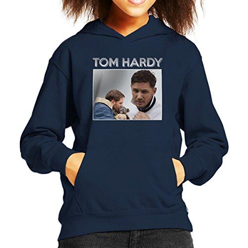 Tom Hardy Puppy Tribute Montage Kid's Hooded Sweatshirt