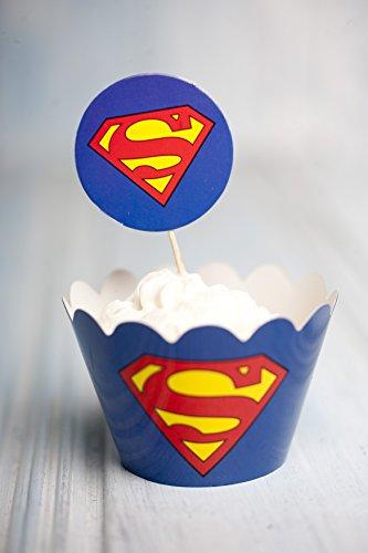 12x Superman stampi Muffin e decorazioni per Muffin Cupcakes