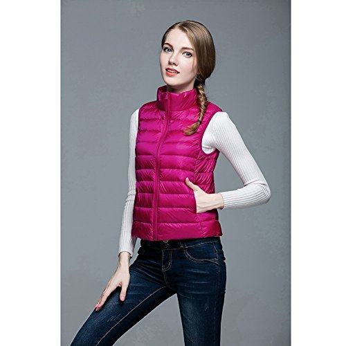 VLUNT Damen Winter Jacke Daunenweste Ladies' Down Vest Winterjacke Rose