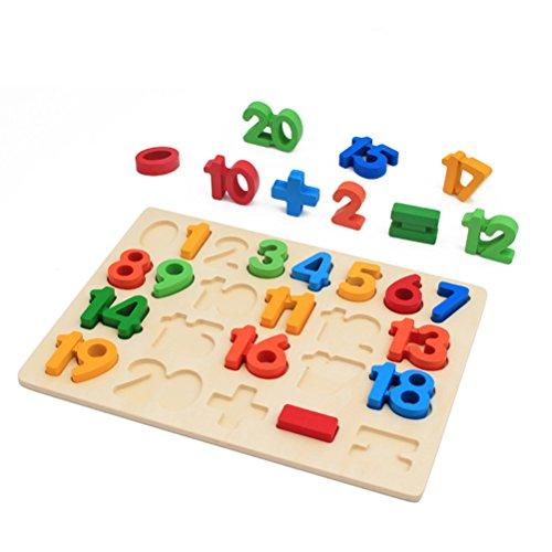 TOYMYTOY Zahlen Puzzle Holzpuzzles ab 3 jahre bunte Nummer pädagogische Lernspielzeug Kinder Geschenk