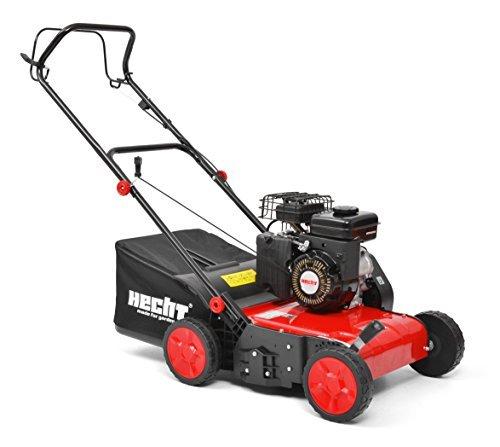 HECHT Benzin-Vertikutierer 5654 Rasen-Lüfter Motorvertikutierer (3,5 PS, 38 cm Arbeitsbreite, 6-fache zentrale Höhenverstellung, 40 Liter Fangkorb)