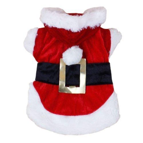 WayGo Weihnachten Hund Kleidung Santa Dog Kostüme Haustier Bekleidung neue Design(red,L)