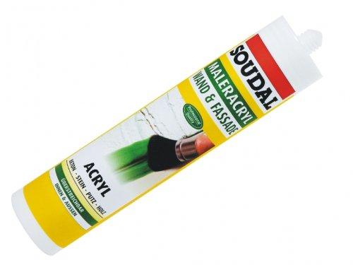 Soudal Maler Acryl Bauacryl Dichtstoff 310 ml Farbe weiß (Acryl-latex-farbe)