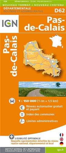 D62 Pas-de-Calais 1/150.000
