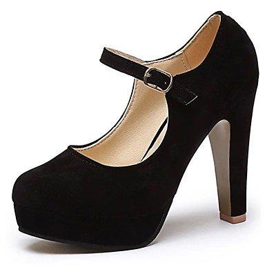 RTRY Donna Luce Tacchi Suole Cadere A Molla Pu Abbigliamento Casual Fibbia Chunky Heel Nere 2A-2 3/4In Nero Us8 / Eu39 / Uk6 / Cn39 US7.5 / EU38 / UK5.5 / CN38