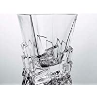 Crystal whiskey glasses handmade, Set of 6 crystal glasses 28 cl, signed Cristal Klein 54120 Baccarat, gift ideas
