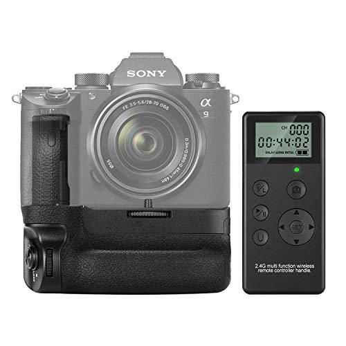 Neewer Vertikaler Batteriegriff für Sony A9 A7RIII Kameras, Ersatz für Sony VG-C3EM, funktioniert nur mit NP-FZ100-Akku, 2,4 G Funkfernbedienung inklusive (Akku nicht enthalten)
