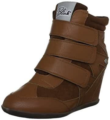 Blink Women's Trainer Wedge Cognac Lace Ups Trainers 300832-A11 4 UK