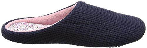 Isotoner - Isotoner Waffle Mule Slipper, Pantofole Donna Blue (Navy)