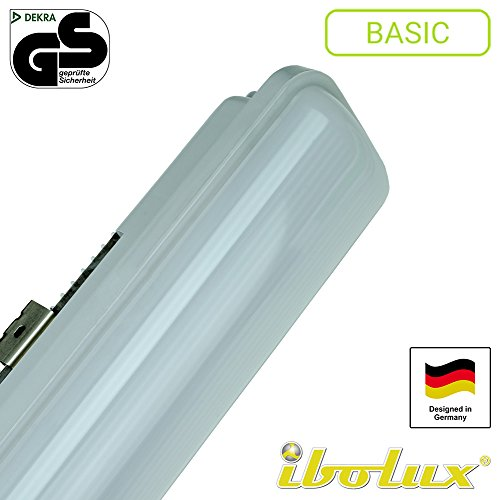 41NKYQyFX7L - BEST BUY #1 60W Non Corrosive LED Light Anti Corrosive LED Tube Fitting Batten Fixture 5ft 150cm (IP65) Fluorescent Fitting LED Ceiling Light LED Garage Light Garage Lighting LED Garden Lighting LED Basement Light Basement Lighting LED Kitchen Lighting LED Kitchen Light LED Bathroom LED Working Light LED Workshop Light Workshop Lighting LED Lighting Waterproof Weatherproof including LED-Module and Ballast. No fluorescent lights or led tube necessary! Reviews and price compare uk