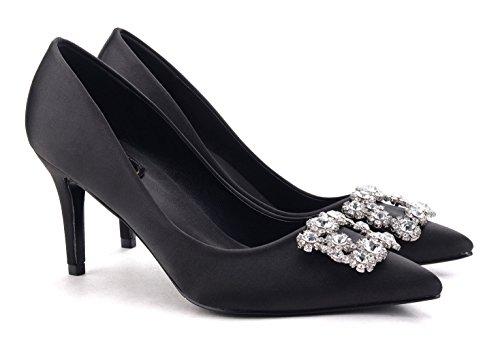 uBeauty - Escarpins Femme - Chaussures Diamant Luxe - Escarpins Grande Taille - Chaussures Stilettos Noir