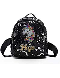 f086a9be4138 Bagmeup Unicorn Sequin Mini Backpack PU Leather Girl Student Schoolbag  Casual Travel Bags - Assorted Colours