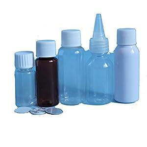 Lyanther 5ml Kunststoff Reagenzgläser Vials Probenbehälter Pulver Handwerk mit Schraubverschlüssen