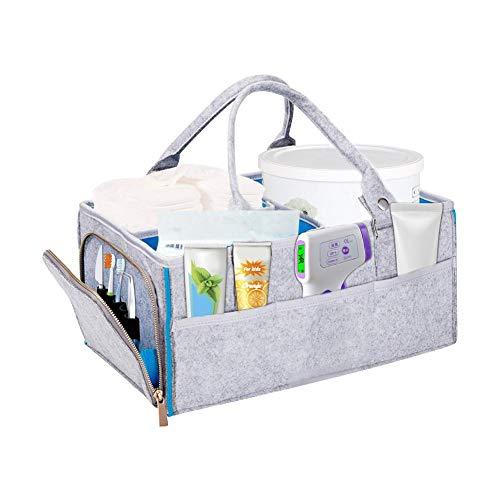Jannyshop Babywindel Caddy Organizer Tragbare Auto Reisetasche Falten Filz Lagerplatz für Spielzeug, Büro, Schlafzimmer, Schrank, Wäscherei