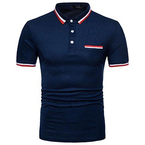 Btruely Herren Poloshirt Kurzarm T-Shirt Sommer Basic Tee Männer Polo Shirt Slim Fit Top Oversize Kurzarmshirt Männer Polohemden Plus Size Kurzarmhemden