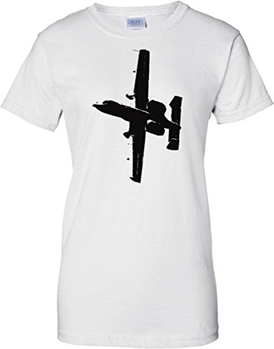 Ecommerce Evolution A10 Thunderbolt II Warthog Tank Buster - US Aircraft - Ladies T Shirt - White - 10 -