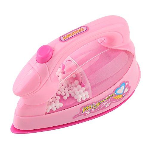 Asixx Elektronisches Bügeleisen, Kinder Bügeleisen mit Licht und Bequemen Griff aus Kunststoff für Kinder, Rosa - Bequemen Griff