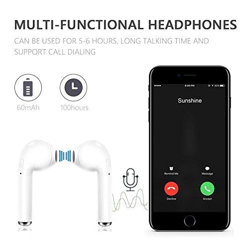 Bluetooth-Headset, Stereo-Headset, Das mit dem Samsung Galaxy S7 S8 Plus, iPad/Android-Smartphone-Sport-Headset kompatibel ist… - 6