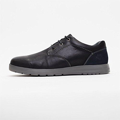Padders Hommes Chaussure en Cuir Regain |Système dajustement dual pour un ajustement plus grande possible | Grande G-H Taille | Avec Chausse-Pied Gratuit Noir / Combi