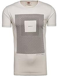 BOLF Herren T-Shirt Tee Kurzarm Rundhals Schadel Slim Aufdruck MIX 3C3 Motiv