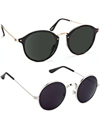 aa74bfde600b ELLIGATOR Round Cateye Unisex Sunglasses Combo (Multicolour) - Pack of 2