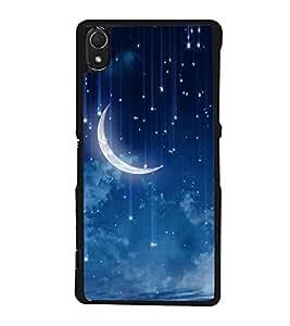 Stars & Moon 2D Hard Polycarbonate Designer Back Case Cover for Sony Xperia Z3 :: Sony Xperia Z3 Dual :: Sony Xperia Z3 D6633