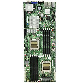 Supermicro Two Six-Core/Quad-Core/Dual-Core AMD Opteron 2000 Series NVIDIA MCP55-Pro Chipset Up to 64 GB of ECC, DDR2 800/667/533 SDRAM Server Motherboard H8DMT-IBXF-B